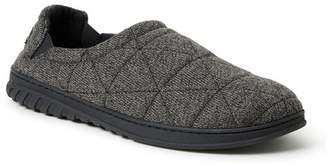 Dearfoams Heathered Knit Quilted Slipper