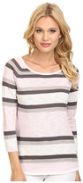 C&C California 3/4 Sleeve Stripe Sweater