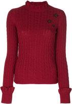RED Valentino cable knit slim-fit jumper - women - Polyamide/Viscose/Angora/Wool - XS