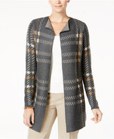 Charter Club Plaid Completer Cardigan, Created for Macy's