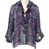 Roberto Cavalli Purple Silk Top for Women
