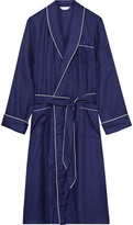 Derek Rose - Lombard Piped Cotton-jacquard Robe