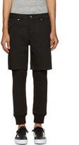 Diesel Black D-Jasp Layered Trousers