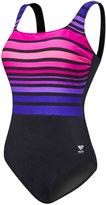 TYR Women's Ombre Stripe Aqua Controlfit Plus Size One Piece Swimsuit 8150957
