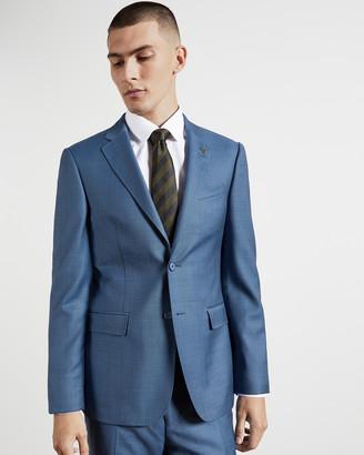 Ted Baker HECFASJ Skinny fit sharkskin wool suit jacket