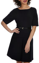 Donna Morgan Belted Fit-and-Flare Dress
