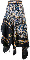 Peter Pilotto Silk scarf asymmetrical skirt
