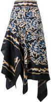 Peter Pilotto Silk scarf asymmetrical skirt