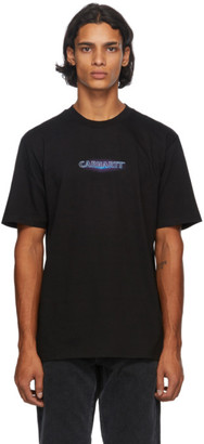 Carhartt Work In Progress Black Neon Script T-Shirt