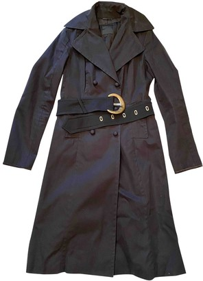 CNC Costume National Black Cotton Coat for Women