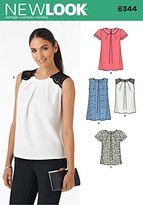New Look 6344 Size A Misses' Tops in 2 Lengths Sewing Pattern, Multi-Colour