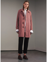 Burberry Tropical Gabardine Car Coat , Size: 48, Purple
