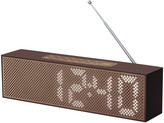 Lexon Titanium Bamboo LED Clock Radio - Brown