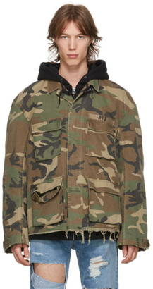 R 13 Khaki and Black Hooded Abu Jacket