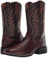 Ariat Amos (Hand Stained Red Brown/Black) Cowboy Boots
