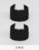 Asos Pack of 2 Net Wristbands