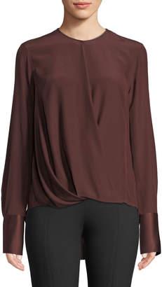 Rag & Bone Max Long-Sleeve Silk Charmeuse Blouse