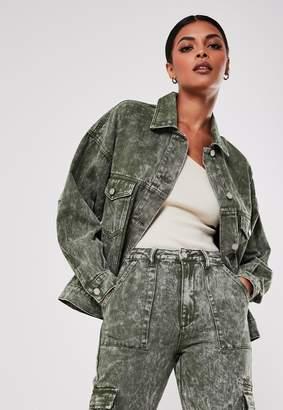 Missguided Khaki Co Ord 80'S Oversized Denim Jacket