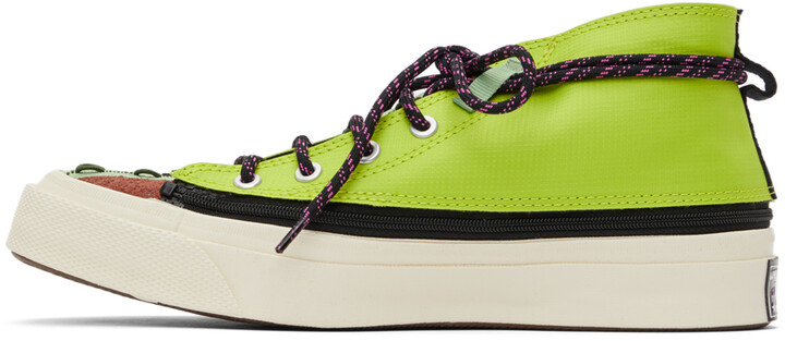 Thumbnail for your product : Converse Green & Burgundy Deck Star Zip Sneakers