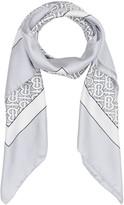 Burberry monogram print square scarf