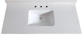 "Avanity Quartz 49"" Single Bathroom Vanity Top Top Color: White"