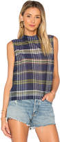 Equipment Benton Plaid Tank in Navy. - size M (also in S,XS)