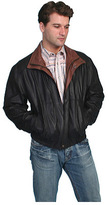 Scully Men's Featherlite Leather Jacket w/ Double Collar 48