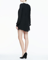 Rachel Zoe Laurel Contrast Pleated Shirtdress