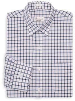 Peter Millar Checkered Cotton Dress Shirt