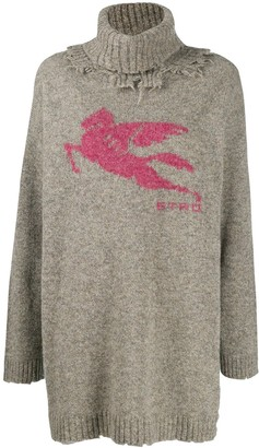Etro Distressed Turtleneck Sweater