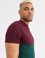 Asos Design ASOS DESIGN organic t-shirt with contrast yoke in green