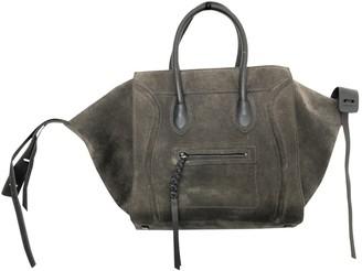 Celine Luggage Phantom Grey Suede Handbags