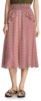 Maje Joaklyn Printed Midi Skirt