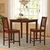 Three Posts Givens 3 Piece Counter Height Wood Bistro Set