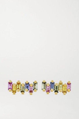 Suzanne Kalan 18-karat Gold Sapphire Earrings - one size