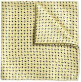 Charles Tyrwhitt Gold Paisley Classic Silk Pocket Square