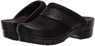 Dansko Saundra (Black Burnished Nubuck) Women's Shoes
