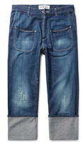 Loewe Cuffed Distressed Denim Jeans