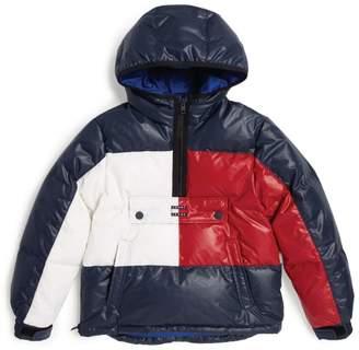 Tommy Hilfiger Junior Flag Logo Half-Zip Padded Coat