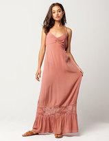 Full Tilt Lace Trim Maxi Dress