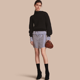Burberry Asymmetric Rib Knit Wool Cashmere Sweater