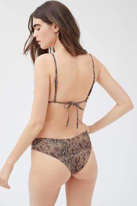 Weworewhat WeWoreWhat Delilah Snakeskin Bikini Bottom
