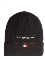 Vetements X Reebok wool beanie hat