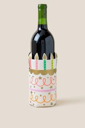 francesca's Birthday Cake Wine Bottle Koozie - White