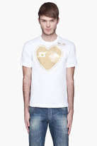 Comme des Garcons White Gold Foil T-Shirt