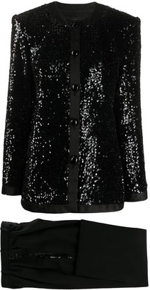 Yves Saint Laurent Pre Owned Sequin-Embellished Two-Piece Suit`