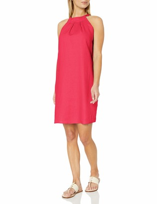 28 Palms Women's 100% Linen Halter Shift Dress
