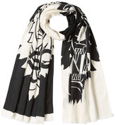 Kenzo Printed Scarf with Cotton and Silk