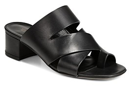 Via Spiga Women's Fae Leather Block Heel Sandals