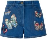 Valentino 'Jamaica Butterflies' denim shorts - women - Cotton/Polyester/Spandex/Elastane - 25